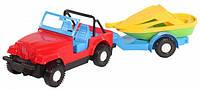 Детская игрушечная машинка Джип с прицепом Wader (39007)