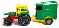 Игрушечная машинка трактор с прицепом Wader (39009)