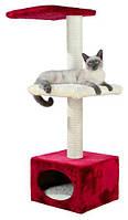 """Домик для кошки """"Elena"""", 109 см, красный/бежевый"""