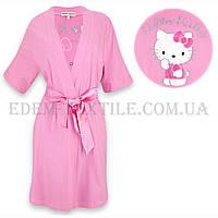 Халат женский трикотажный  Jackies Fashion 2841 Hello Kitti розовый