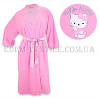 Халат женский махровый  Jackies Fashion 2850 Hello Kitti розовый
