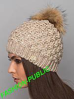 Зимняя шапка 7 цветов меховой бубон