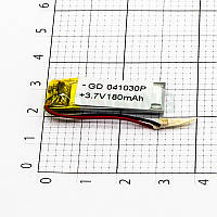 Литий-полимерная батарея 041030P (180mAh) универсальный аккумулятор для техники.