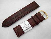 Минута - кожаный коричн. ремешок 18,20,22,24,24мм