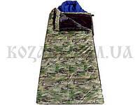 Спальный мешок-одеяло ЭКОНОМ с капюшоном весна/осень