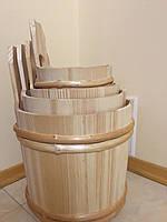 Набір дерев'яних відер в сауну (4 шт) ручна робота