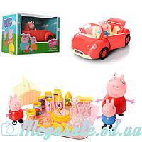 """Набор с машинкой Свинка Пеппа/Peppa Pig """"Пикник"""": 4 фигурки + принадлежности для пикника"""