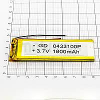 Литий-полимерная батарея 0433100P (1800mAh) универсальный аккумулятор для техники.