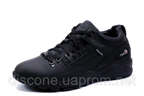 Кроссовки зимние Jordan Techlite 750, мужские, на меху, натуральная кожа, черные