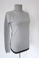 Гольф мелкая вязка серый
