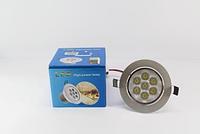 Лампочка LED LAMP 7W Врезная круглая точечная 1403