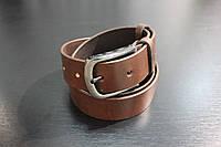 Ремень джинсовый коричневый  40мм. кожаный
