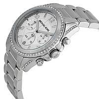 Женские часы Michael Kors MK5165 Parker Silver-Tone Crystal Chrono