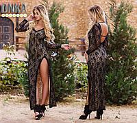 Платье вечернее гипюр с камнями 04/345