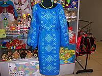 Платье вышитое (лен 100%)