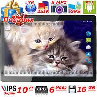 Мощный планшет LENOVO Joga 10 дюймов андроид шестиядерный 16 Гб ОЗУ 1 Гб 3G Wi Fi GPS 2 sim навигатор подарки