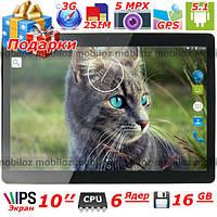 10 дюймовый IPS планшет LENOVO Joga шестиядерный андроид 16 Гб 1 Гб GPS 3G wifi dual sim подарок чехол пленка