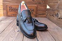 Мужские  туфли лоферы Samuel Windsor, HANDMADE,  28.5 см, 43.5 размер. Код: 021.