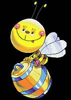 Схема для вышивки бисером Пчела на бочке А2