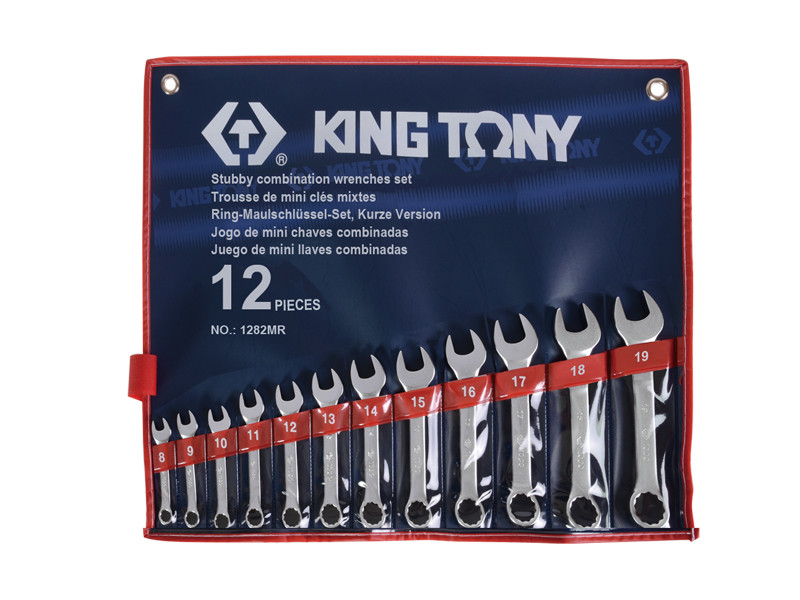Набор укороченных комбинированных ключей, 12 предметов. KINGTONY