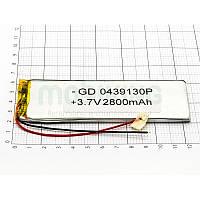 Литий-полимерная батарея 0439130P (2800mAh) универсальный аккумулятор для техники.