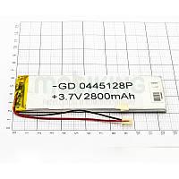 Литий-полимерная батарея 0445128P (2800mAh) универсальный аккумулятор для техники.