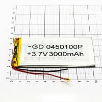 Литий-полимерная батарея 0450100P (3000mAh) универсальный аккумулятор для техники.