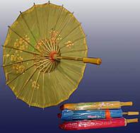 Зонт шелковый с рисунком   (53 см)