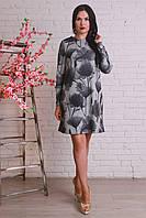 Интересное повседневное платье из ангоры свободного кроя