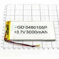 Литий-полимерная батарея 0460105P (3000mAh) универсальный аккумулятор для техники.
