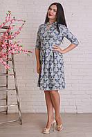 Модное платье из ангоры с интересным животным принтом
