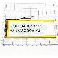 Литий-полимерная батарея 0460115P (3000mAh) универсальный аккумулятор для техники.
