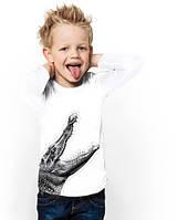 """Лонгслив для мальчика с карманом """"BiBi Crocodile""""; 3, 4, 5, 6-7, 8-9, 10-11, 12-13 лет"""