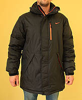 Мужская спортивная куртка Nike 832868 черный с оранжевым код 278б