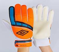 Рукавиці воротарські підліткові UMB оранжеві FB-838-5