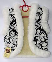 Детская жилетка для девочки из овечьей шерсти