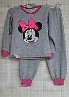 Детская пижама для девочки начес Минни, 110-116 см