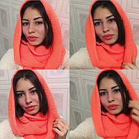 Женский вязанный шарф-снуд (хомут)
