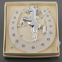 """Оригинальные сувениры подковы """"Лошадь на дыбах"""" 11 см"""