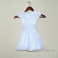 Платье для девочки с вышивкой Bimbissimi ПЛ-1501 белое 86