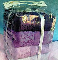 Турецкий набор бамбуковых полотенец в сумочке