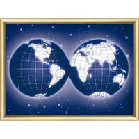 Набор для изготовления картины со стразами Чарівна Мить КС-188 Карта мира
