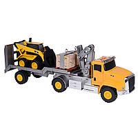 Игрушечные машинки и техника «Toy State» (34800) подъёмный кран с мини погрузчиком 23 см, 58 см