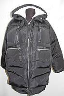 Зимняя куртка женская на замке с капюшоном черная