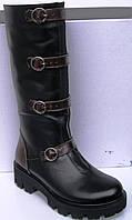 Детские сапоги высокие кожаные зимние, кожаная детская обувь зимняя от производителя модель О-О28к