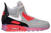 Мужские кроссовки Nike Air Max 90 SneakerBoot Ice, Найк Аир Макс серые