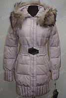 Зимняя куртка женская  на замке с капюшоном розовая
