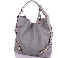 Красивая женская сумка из качественного кожезаменителя GUSSACI (ГУССАЧИ) TUGUS13J028-1-9 (серый)