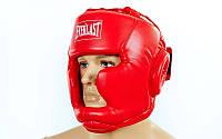 Шлем боксерский с полной защитой EVERLAST красный