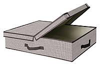 Коробка для хранения вещей Класик ЛОНГ с крышкой (60х45х15см)